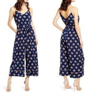 Leith Jumpsuit Piped Cami in Navy Peacoat Kaley 10